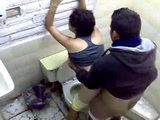 Horny Couple Caught Fucking In A Public Toilet