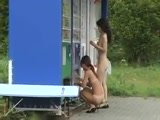Japanese Teens Outdoors Exposing and Threesome Creampie With A Stranger