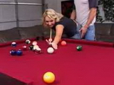 Blonde Young Mom Likes Anal On Billiard Table