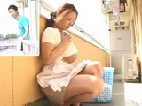 Japanese Housewife Caught Masturbating On Terrace By Neighbor Boy
