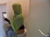 Arab Teen Disturbed While On Toilet Then Anal Fucked