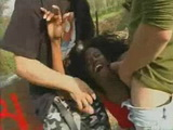 Screaming Black Girl Gets Brutally Anal Fucked at Picnic