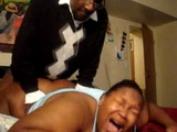 Screaming Black BBW Wife Trashed Hard From Behind