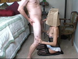 Bag Face Housewife Blowjob