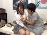 Busty Japanese Schoolgirl Came To Visit Her Sick Classmate But Never Hoped It Would Turn This Way