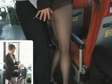 Hot Japanese Business MILF Groped and Fucked In Bus