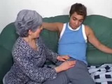 Granny Seduce and Fuck Shy Boy