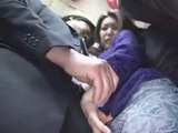 Japanese MILF Tekoki CFNM In Bus