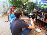 Bored Horny Mom Interrupts Sonny Boy Playing Video Game To Fuck Her