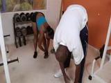 Ebony Gym Anal