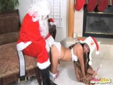 Old Santa Claus Fucks Naughty Asian Teen For Christmas