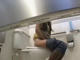 Brunette Teen Wasnt Alone In Toilet