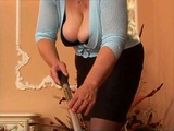 BBW Mature Maid Gangbanged By Two Younger Guys