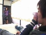 Japanese Mom caught Boy Sniffing Her panties