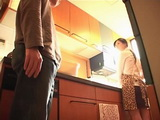 Japanese Boy Attack His Aunt In The Kitchen