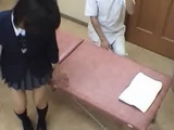 Japanese Schoolgirl at Massage Treatment