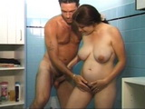 Pregnant German Wife Anal Fucked In Bathroom