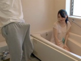 While Cleaning The Bathroom Japanese Maid Wet Herself So Her Employers Son Had A Little Problem With That